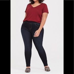 Torrid Lean Jean Pull On Dark Wash Jeans